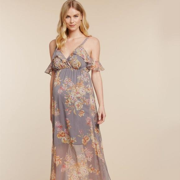 024b9e334cef2 Jessica Simpson Dresses & Skirts - Jessica Simpson Ruffled Maternity Maxi  Dress